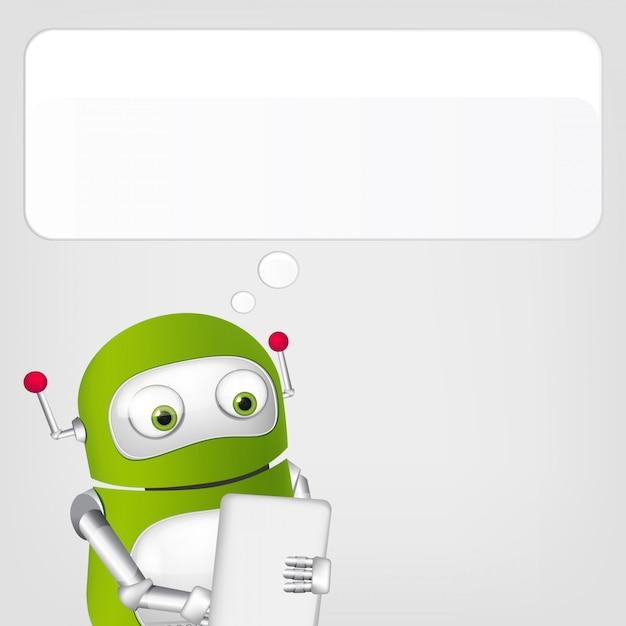 Simpatico robot Vettore Premium