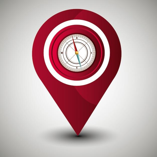 Sistema di localizzazione geografica Vettore gratuito