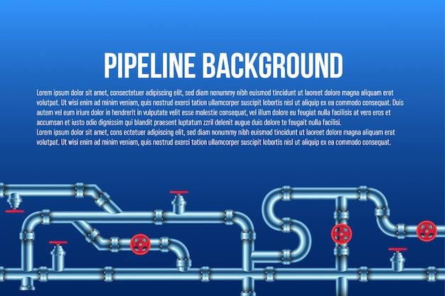 Sistema di tubazioni industriali per petrolio, acqua, gas. Vettore Premium