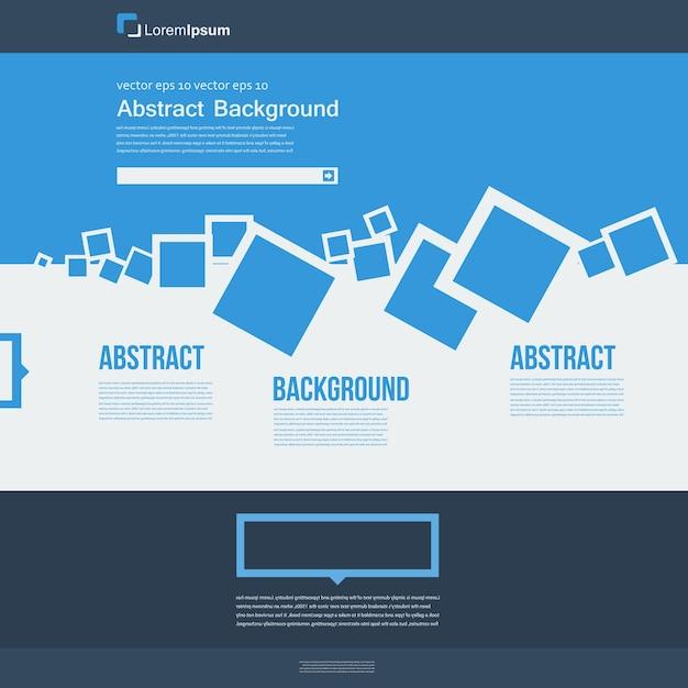 Sito web vettoriale astratti quadrati blu brochure for Sito web piano gratuito