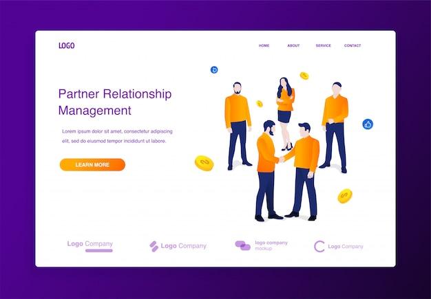 Sito web Vettore Premium