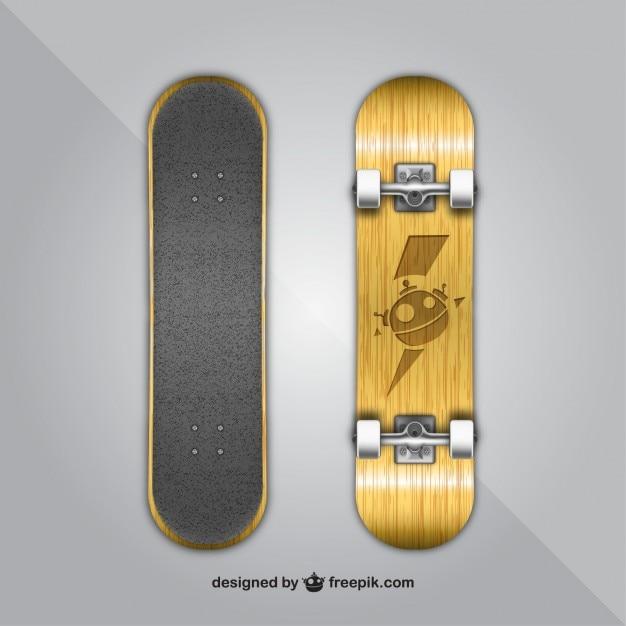 Skateboard, psd materiale stratificato Vettore gratuito