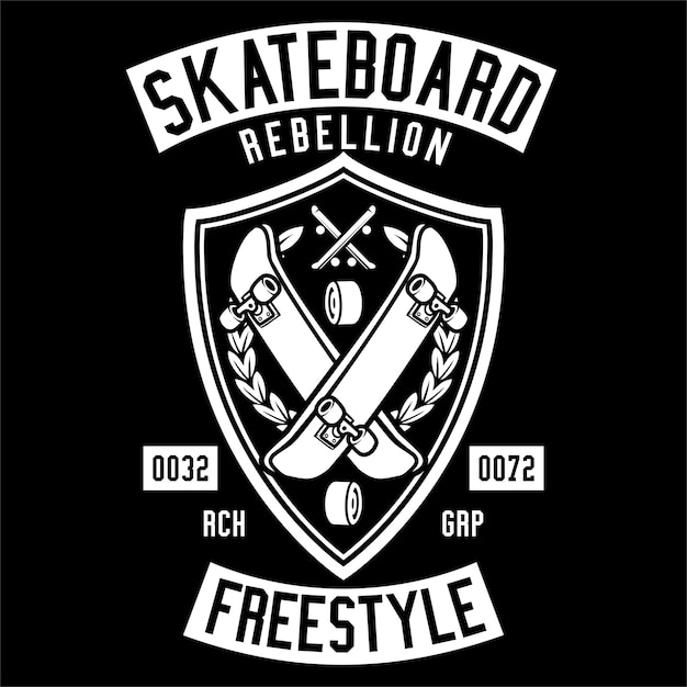 Skateboard rebellion Vettore Premium