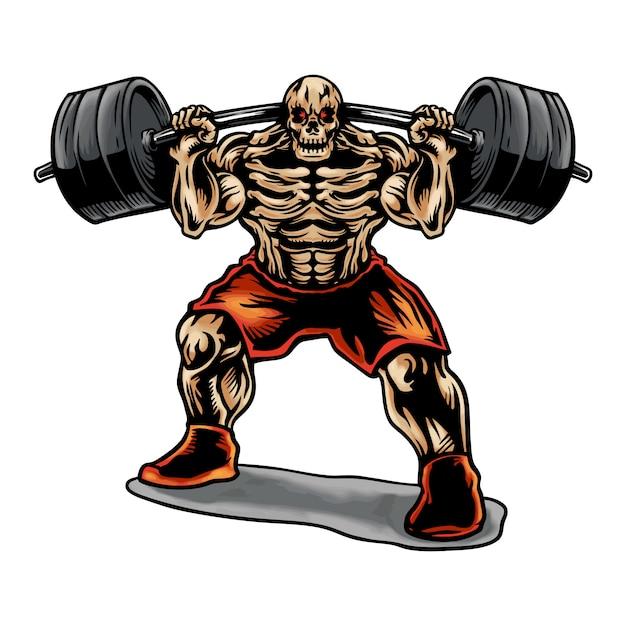 Skull weightlifting Vettore Premium