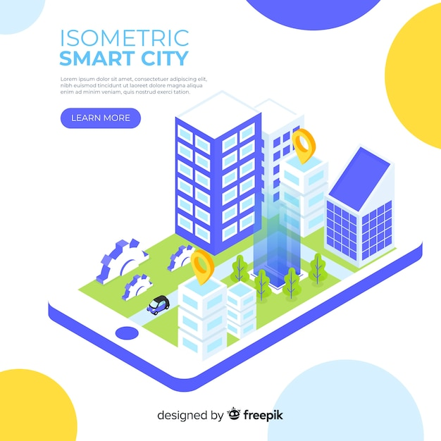 Smart city isometrica Vettore gratuito
