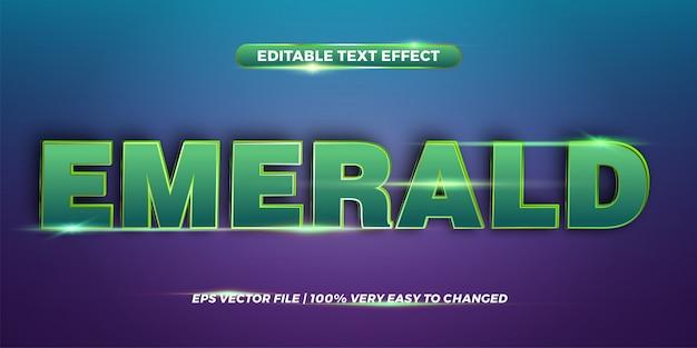 Smeraldo di parole - effetto di testo modificabile Vettore Premium