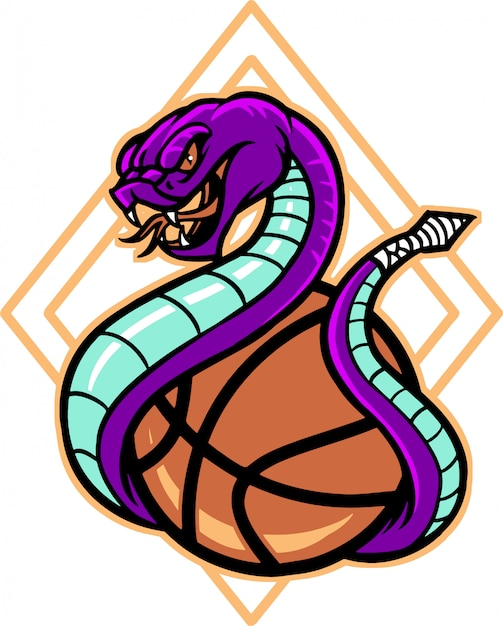 Snake basket Vettore Premium