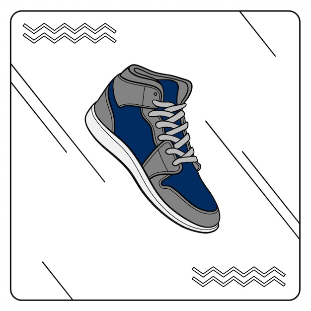 Sneaker di base Vettore Premium