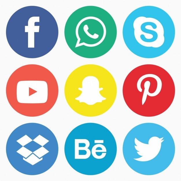Social media icon pack Vettore gratuito
