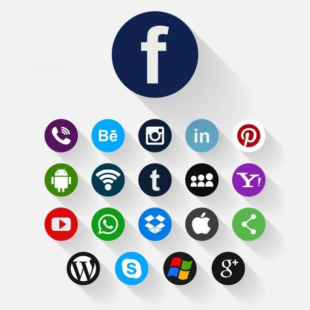 Social media icona di sfondo Vettore gratuito