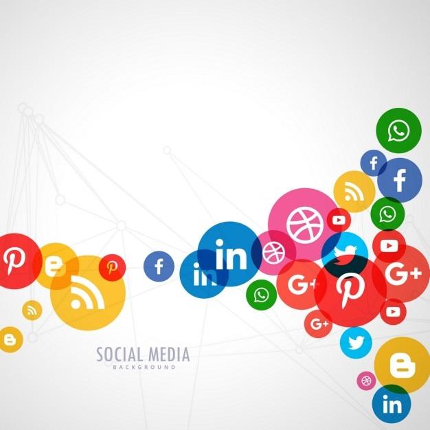 Social media logo sfondo Vettore gratuito