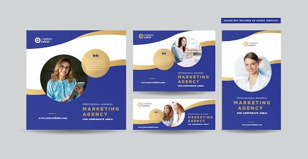Social media post design | progettazione di banner per siti web | instagram, facebook, twitter, linked-in advert design Vettore Premium