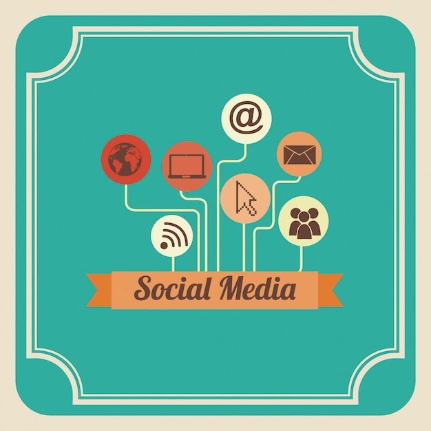 Social media Vettore gratuito