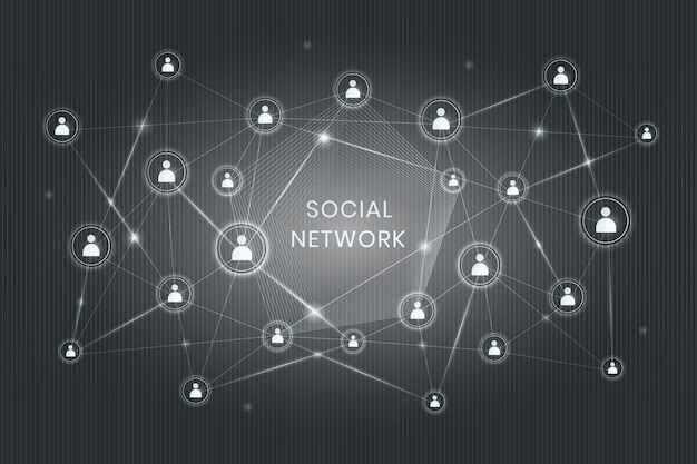 Social network decentralizzato Vettore gratuito