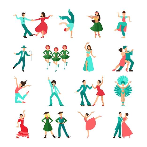 Solo uomini di danza in stile Vettore Premium