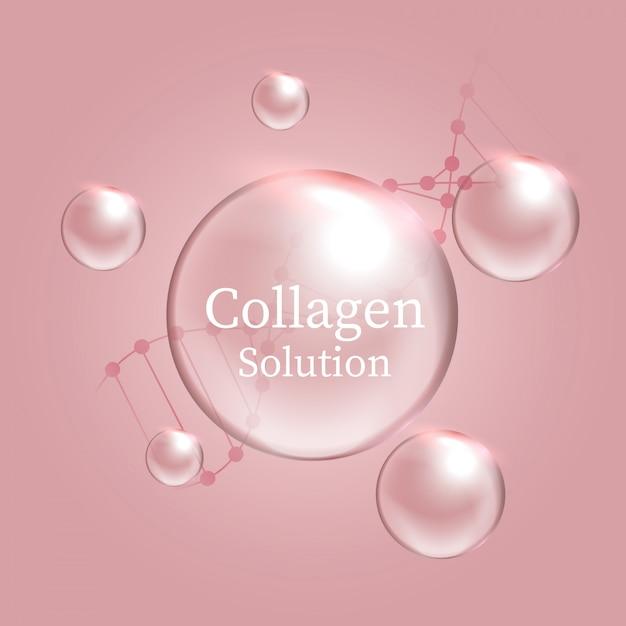 Soluzione di collagene Vettore Premium