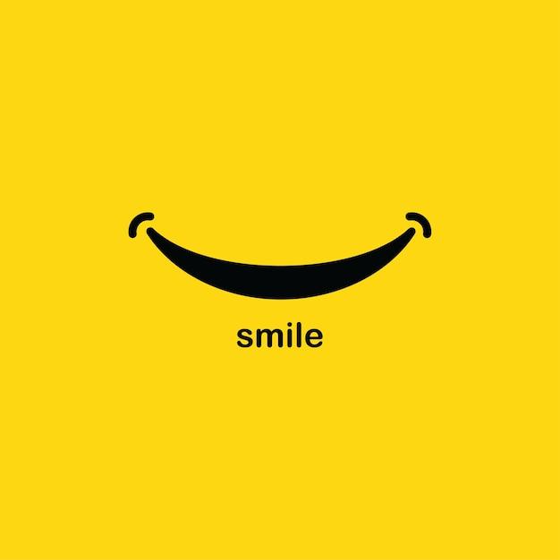 Sorriso modello di logo Vettore Premium