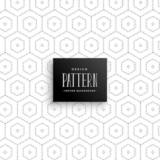 Sottili punti esagonali pattern di sfondo Vettore gratuito