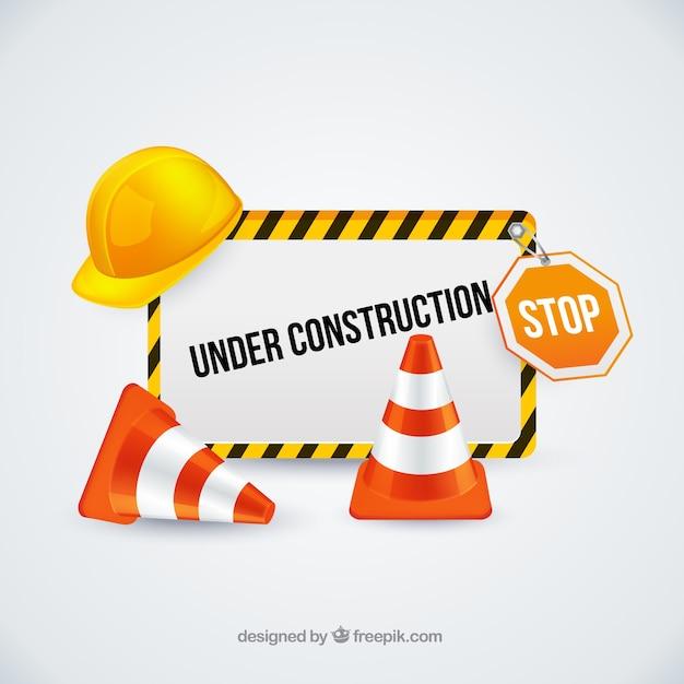 Sotto il segno della costruzione con i coni di traffico for Software di costruzione gratuito