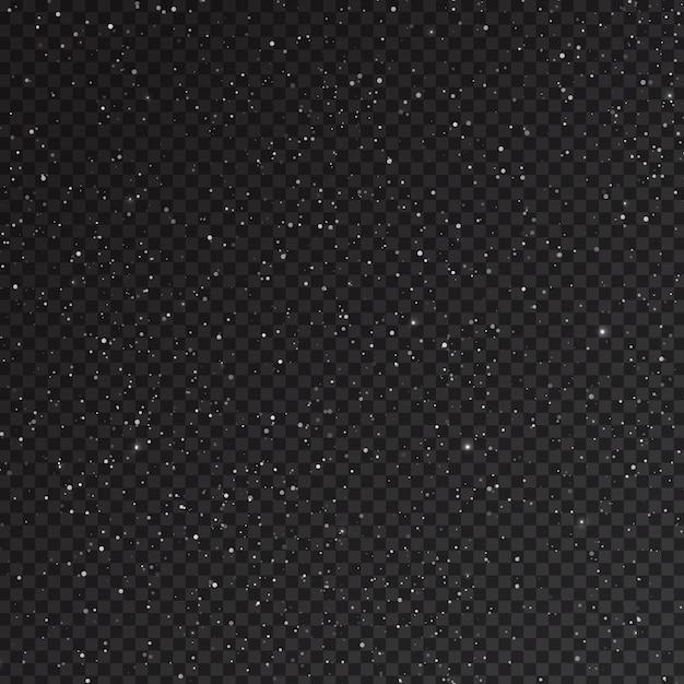 Sovrapposizione di neve caduta realistica Vettore Premium