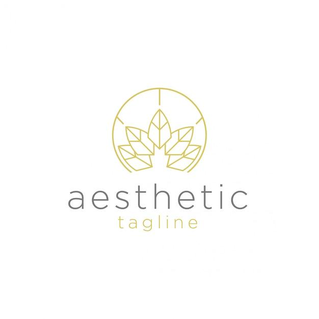 Spa e logo estetico Vettore Premium