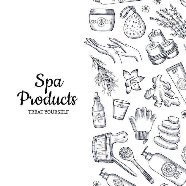Spa seamless pattern di sfondo Vettore Premium