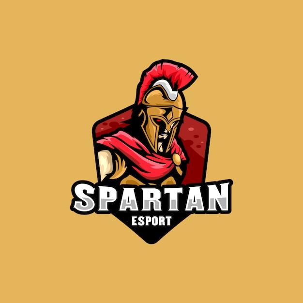 Spartan esports logo illustration Vettore Premium