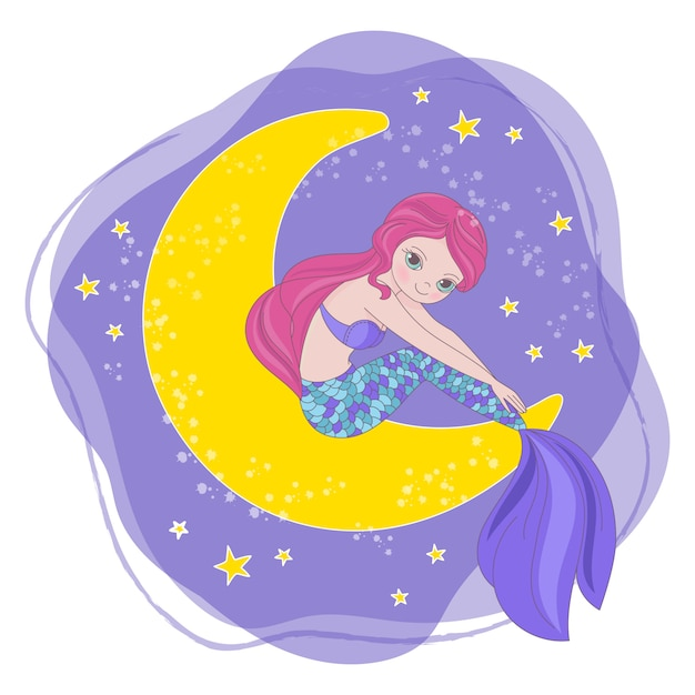 Spazio cartoon princess Vettore Premium