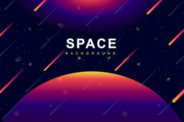 Spazio colorato e sfondo galassia Vettore Premium
