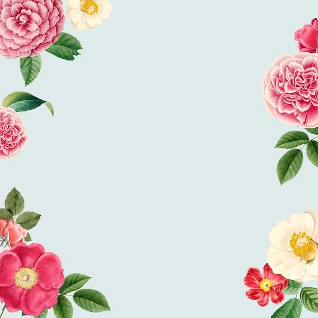 Spazio vuoto copia floreale Vettore gratuito