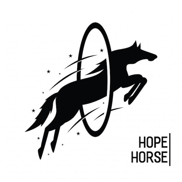 Spero cavallo vintage Vettore Premium