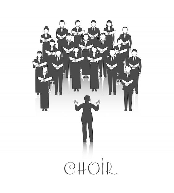 Spettacolo classico del coro Vettore gratuito