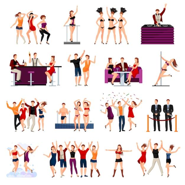 Spettacolo di strip di ragazze sexy di night club di ballo Vettore gratuito