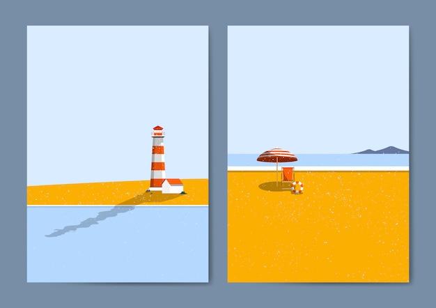 Spiaggia estiva Vettore gratuito