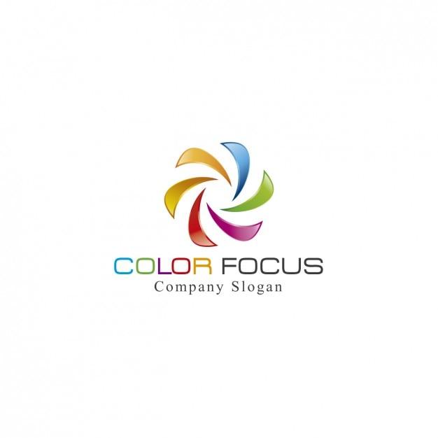 Spirale colorato logo template Vettore gratuito