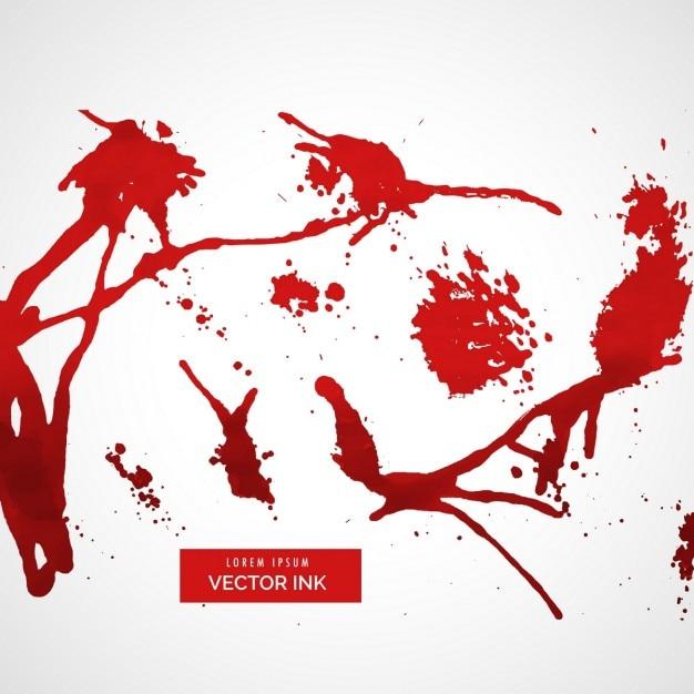 Splatter inchiostro rosso Vettore gratuito
