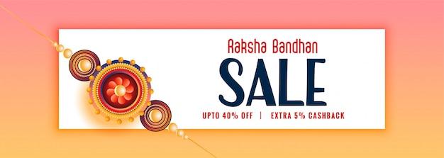 Splendido banner in vendita raksha bandhan con rakhi Vettore gratuito
