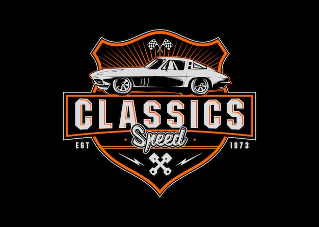 Sport classico distintivo logo sport Vettore Premium