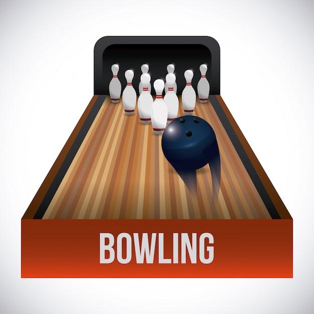 Sport di bowling Vettore Premium