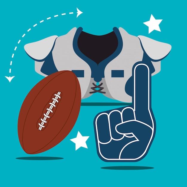 Sport di gioco del football americano Vettore gratuito