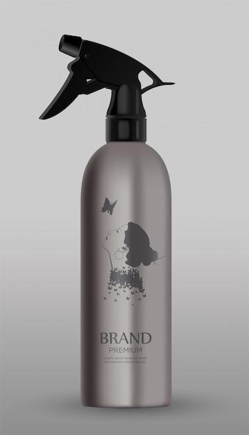 Spray metallico cosmetico Vettore Premium