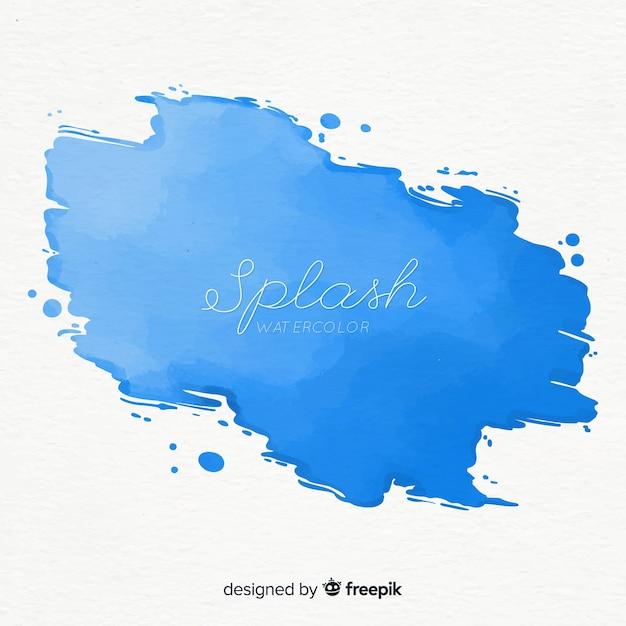 Spruzzata acquerello blu Vettore gratuito