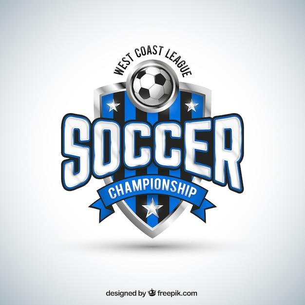 Squadra di calcio distintivo Vettore gratuito