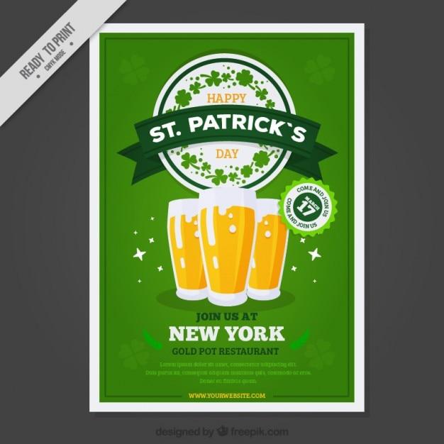 St birre giorno poster di patrick scaricare vettori gratis - St patricks giorno fogli di colore giorno ...