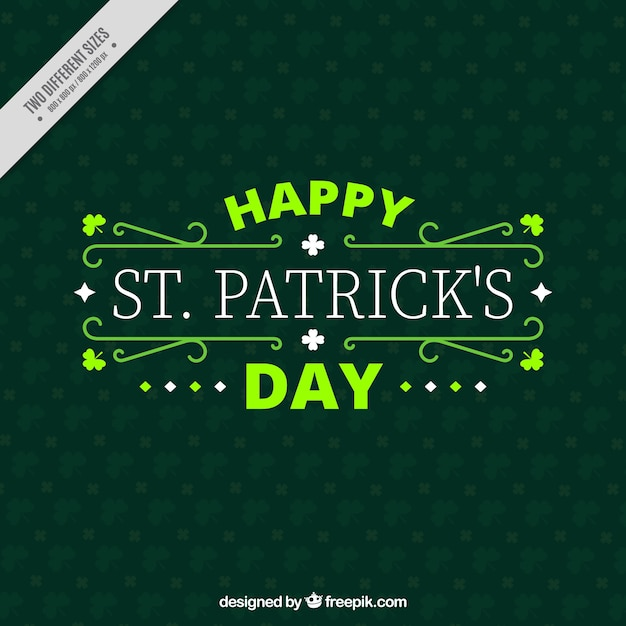 St felice giorno di patrick sfondo decorativo scaricare - St patricks giorno fogli di colore giorno ...