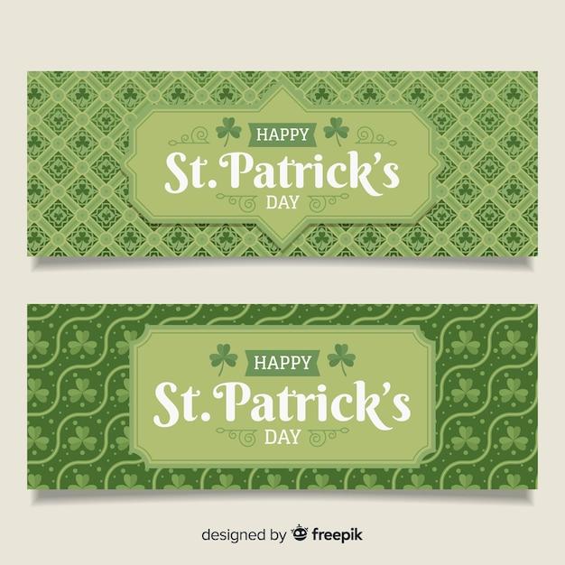 St patrick's day banner Vettore gratuito