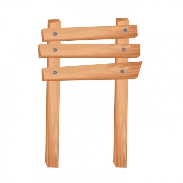 Staccionata in legno Vettore gratuito