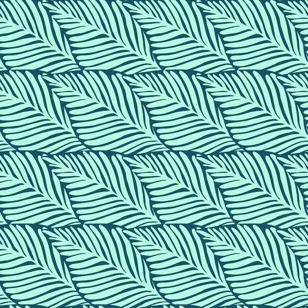 Stampa della giungla della natura estiva. pianta esotica. modello tropicale, vettore senza cuciture delle foglie di palma floreale. Vettore Premium
