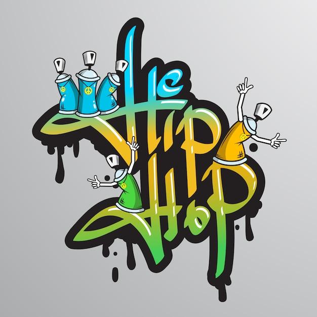 Stampa di caratteri di parole graffite Vettore gratuito