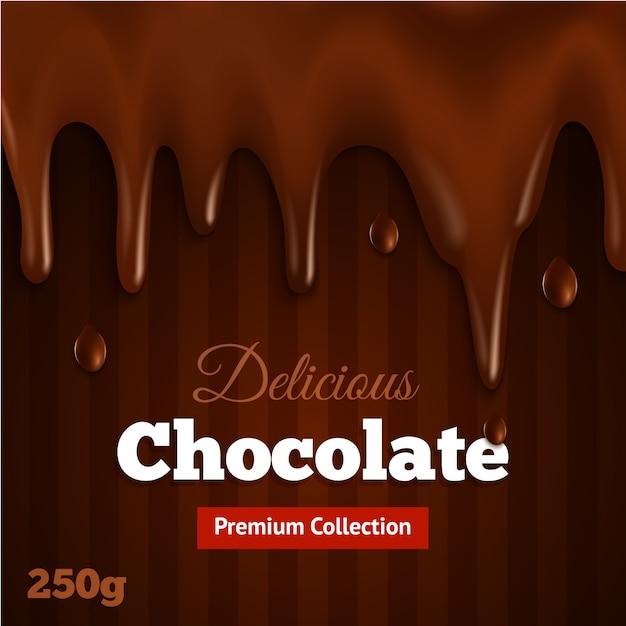 Stampa di sfondo di cioccolato fondente Vettore gratuito
